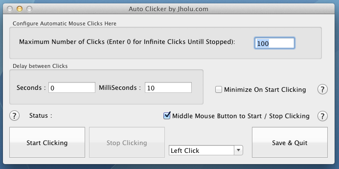 Auto Clicker for Mac 10.4 Onwards