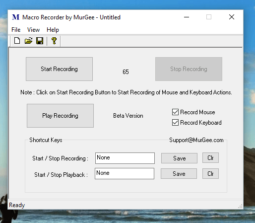 Macro Recorder to Record and Playback Mouse and Keyboard